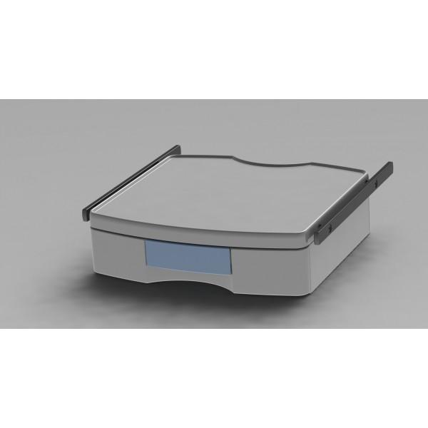 Tablette étroite avec 1 tiroir + 2 rails