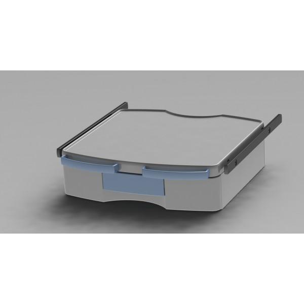 Tablette étroite avec 1 tiroir + 2 rails + 2 poignées