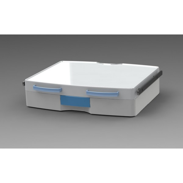 Tablette large avec 1 tiroir + 2 rails + 2 poignées