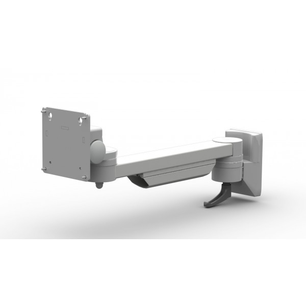Flat panel monitor holder double joint