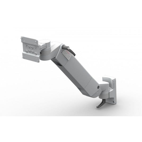 Flat panel monitor holder double joint with height adjustement (spring)