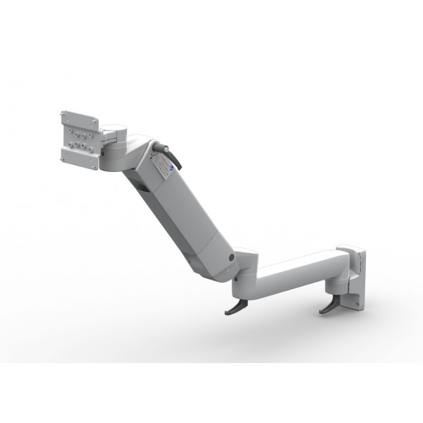 Flat panel monitor holder triple joint with height adjustement (spring)