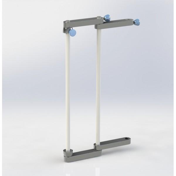 Triple support tige pour distributeur colonne motorisée