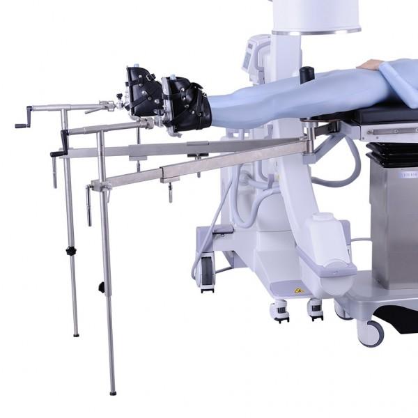 Appareillage orthopedique composé de 2 barres et 2 tracteurs