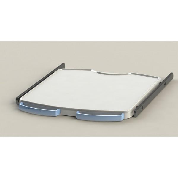 Tablette étroite + 2 rails + 2 poignées