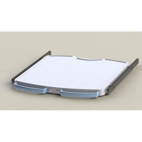 Tablette étroite + 2 rails + 2 poignées + blocage d'axe