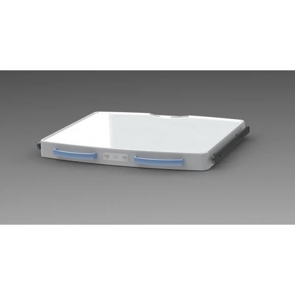 Tablette large + 2 rails + 2 poignées + blocage d'axe